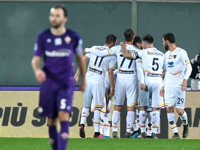 Fiorentina-Lecce 0-1, La Mantia respiro pugliese: terzo ko per i viola