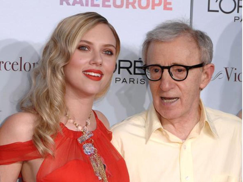 Scarlett Johansson con Woody Allen
