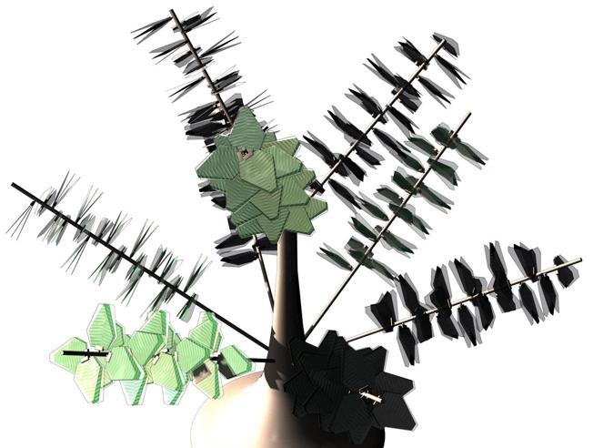 Trasforma il vento del traffico in energia: «Eolo», il cespuglio (artificiale) che aiuta l'ambiente
