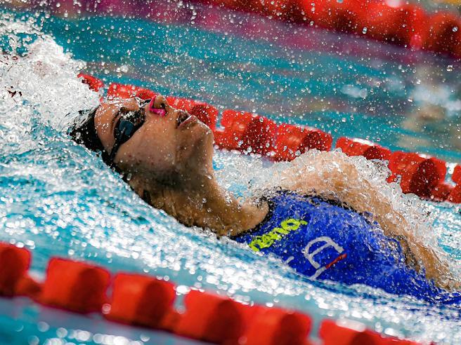 Europei nuoto, Margherita Panziera d'oro nei 200 dorso in vasca corta
