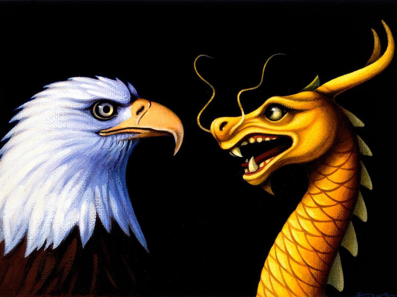 L'aquila e il dragone, simboli di Stati Uniti e Cina (Corbis)