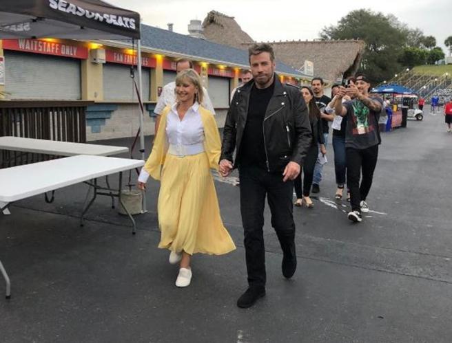 «Grease» 41 anni dopo, John Travolta e Olivia Newton-John di nuovo nei panni di Danny<a href=