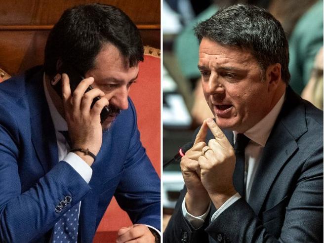 Salvini e Renzi, la diffidenza tra i leader che blocca le larghe intese