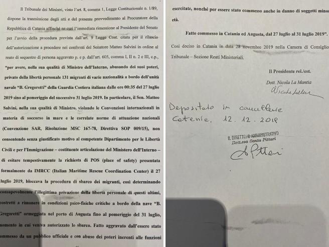 Migranti, Salvini «ha abusato dei suoi poteri»: inviata al Senato la richiesta di autorizzazione a procedere