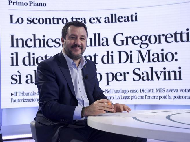 Salvini: «Io a processo per nave Gregoretti? Con me milioni d'italiani. Di Maio e Conte hanno perso l'onore»
