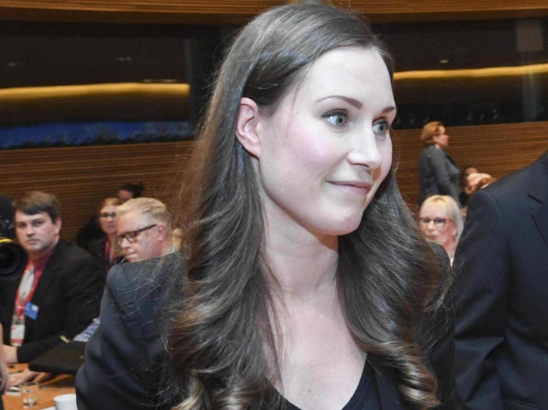 La nuova premier finlandese Sanna Marin (Ap)