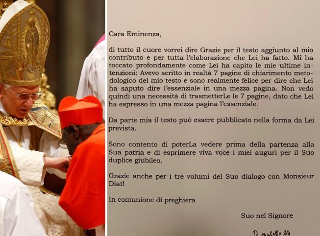 Celibato, Ratzinger chiede di togliere la sua firma dal libro di Sarah. Il cardinale: