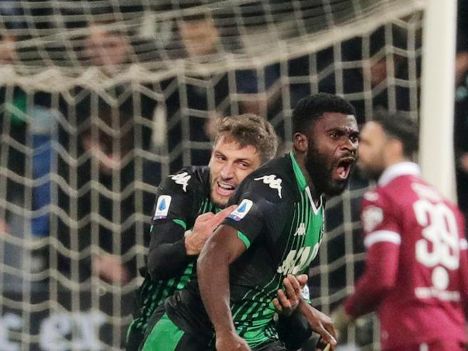 Sassuolo-Torino 2-1, una prodezza di Boga e Berardi fermano i granata