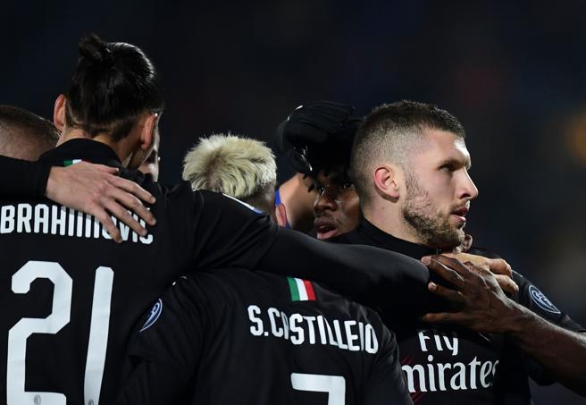 Brescia-Milan 0-1, gol di Rebic su assist di Ibra: è la terza vittoria