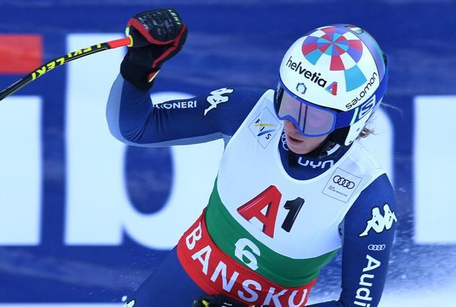 Bassino seconda nel SuperG di Bansko vinto dalla Shiffrin