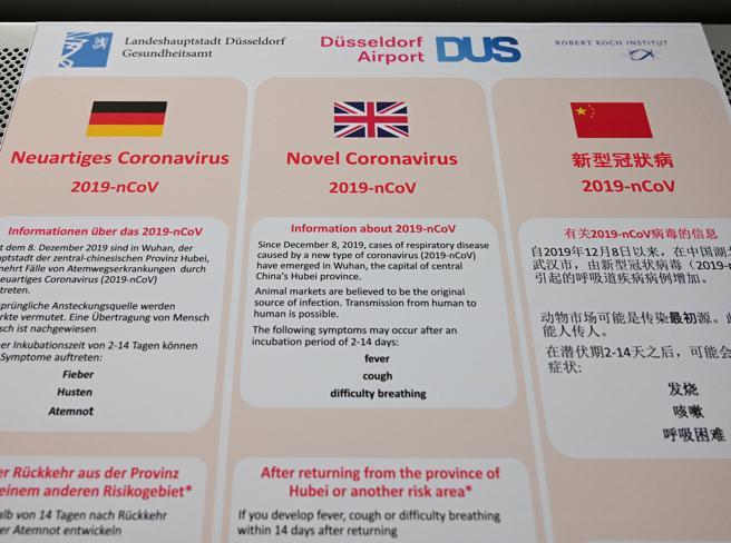 Virus dalla Cina, 4  casi in Germania:  «Contagio da persona