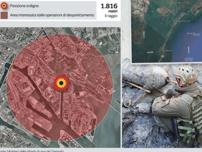 Bomba day a Venezia: la città isolata per un disinnesco. La diretta