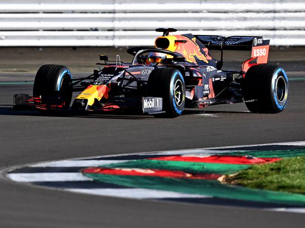 La nuova Red Bull RB16 in azione a Silverstone (Getty Images)