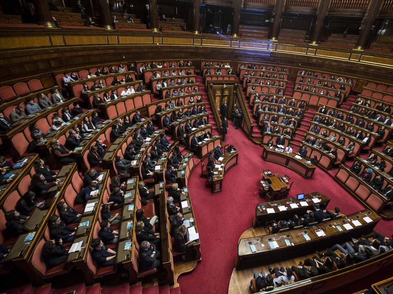 L'aula del Senato durante una seduta (Imagoeconomica)