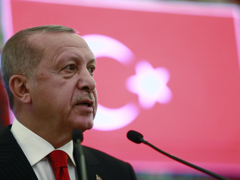 Il presidente turco Erdogan (Ap)