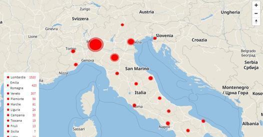 Cartina Italia Varese.Coronavirus In Italia Regione Per Regione 2 502 Casi 79 Morti E 160 Guariti Corriere It