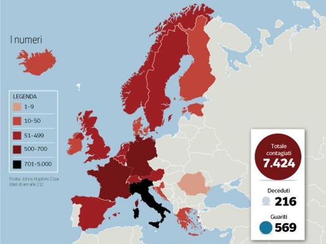Coronavirus, cosa succede in Europa: i contagi, le vittime, le misure. Il dossier su Francia, Germania e altri Paesi