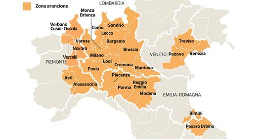 Le province in cui si può entrare e uscire solo per gravi motivi: mappa