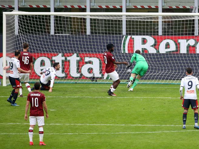 Milan-Genoa 1-2, Pandev e Cassata nel deserto di San Siro e della difesa rossonera