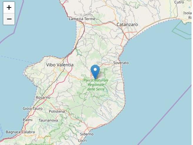Terremoto, scossa di magnitudo 3.2 in provincia di Vibo Valentia