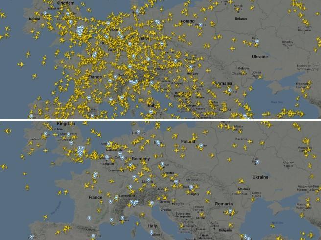 Il giorno in cui l'uomo ha smesso di volare Così il virus ha fermato gli aerei