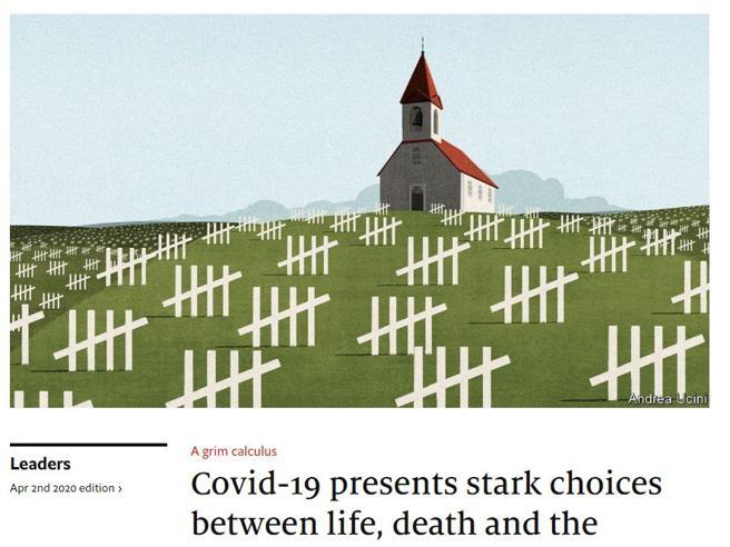 L'Economist: «Fino a quando potremo dire che una vita umana non ha prezzo?»