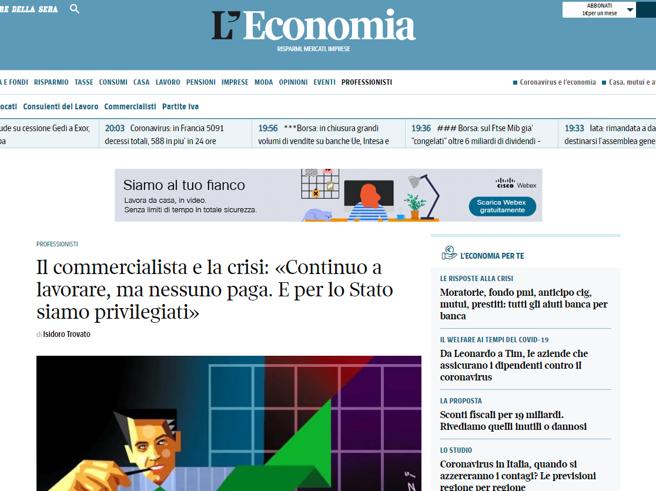 Avvocati, commercialisti e consulenti del lavoro: per loro il nuovo canale web del «Corriere»