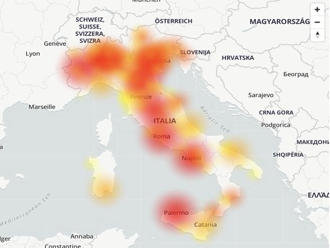 Wind Tre down, problemi alla rete dati in tutta Italia