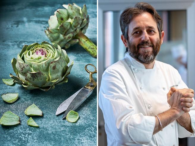 La ricetta del carciofo al sale dello chef Cristiano Tomei: bastano solo 2 ingredienti