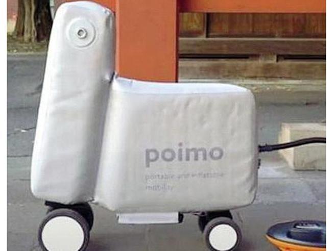 Per i pendolari dal Giappone arriva Poimo, l'e-scooter gonfiabile