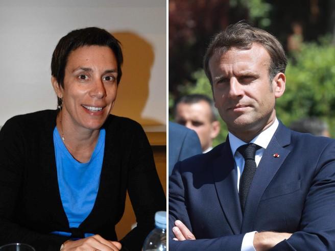 L'economista italiana Valentina Bosetti, 47 anni, e il presidente della Repubblica francese Emmanuel Macron, 42