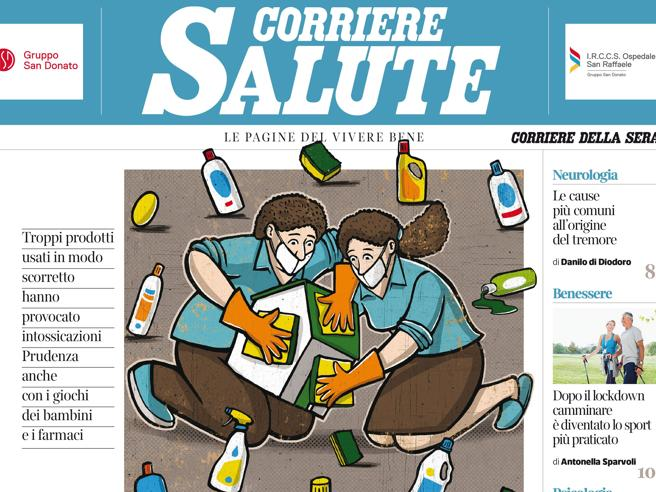 Corriere Salute: igiene, chi esagera coi disinfettanti rischia intossicazioni