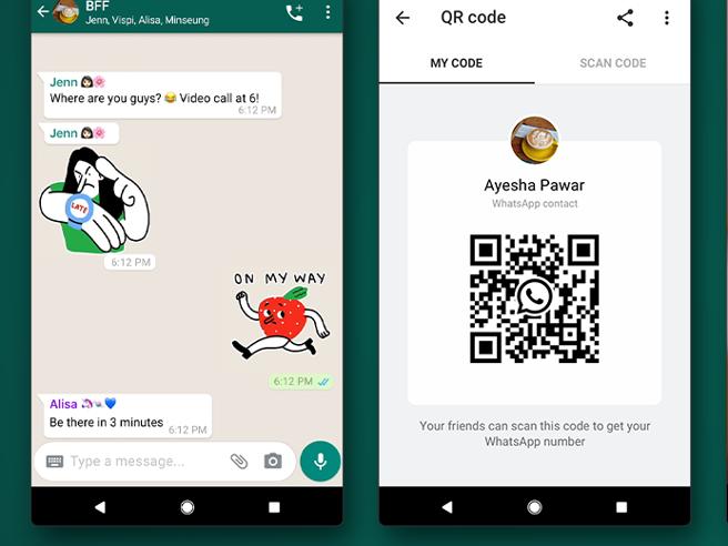 Su WhatsApp arrivano gli sticker animati e i codici QR per aggiungere un nuovo contatto