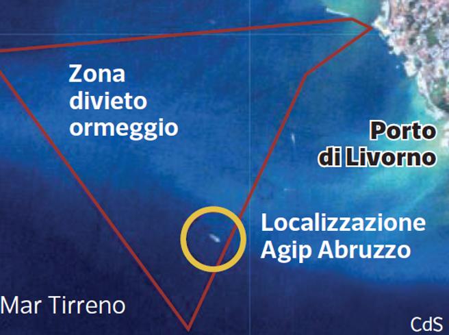 Moby Prince, l'analisi di 11 foto satellitari e la localizzazione della petroliera Agip Abruzzo: «Era nella zona vietata»