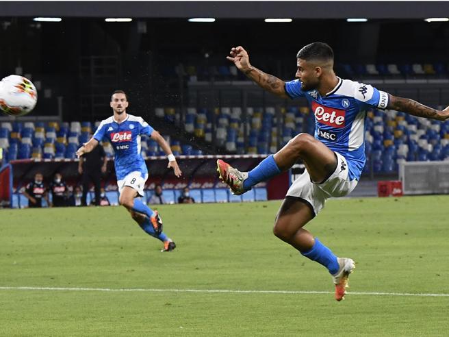Napoli Roma 2 1: decide Insigne, aggancio al 5º  postoInter