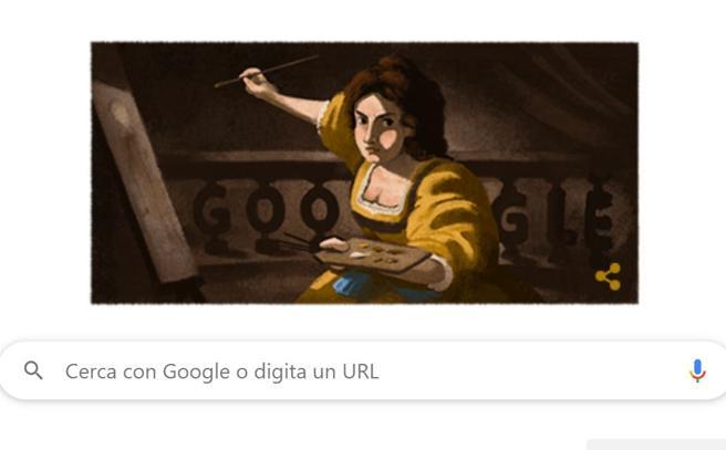 Il doodle di Google celebra Artemisia Gentileschi