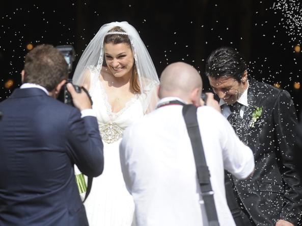 Il matrimonio tra Buffon e Seredova, il 16 giugno 2011, a Praga (Afp)