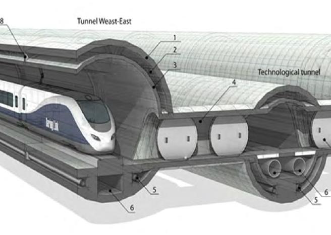 Tunnel sotto lo stretto di Messina: il progetto dell'ingegner Saccà