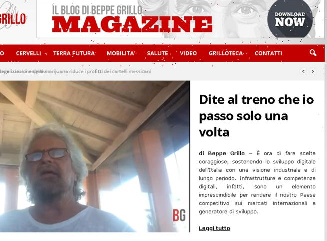 Grillo: «Il sogno di un movimento senza soldi, nè sedi, nè tesoro»
