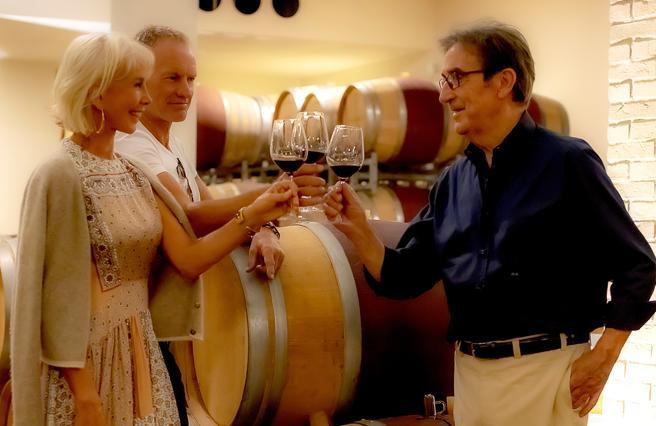 Sting, messaggio in bottiglia: «Cambio e punto ai super-vini»
