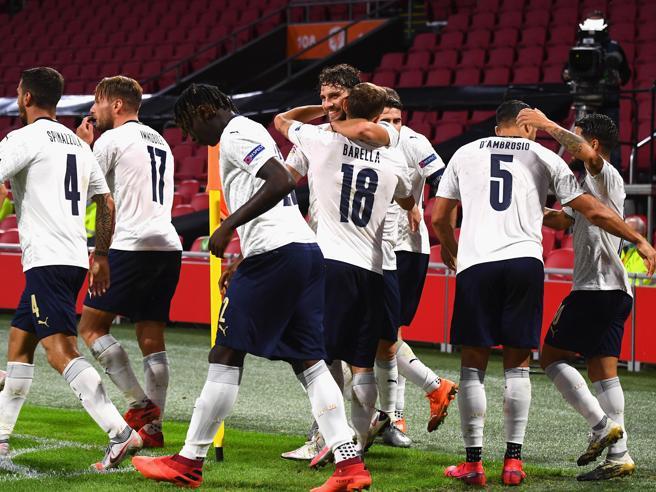 Olanda-Italia 0-1, decide Barella: Mancini vince  e si prende la vetta del girone
