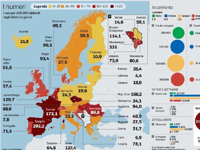 Coronavirus, lockdown a Madrid. Nuove restrizioni in mezza Europa, salgono i morti