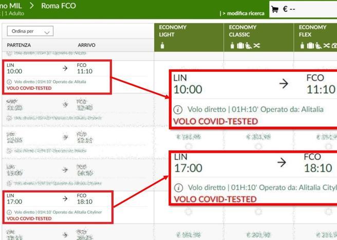 Decollano da Milano Linate i primi voli «Covid free» (test a tutti)