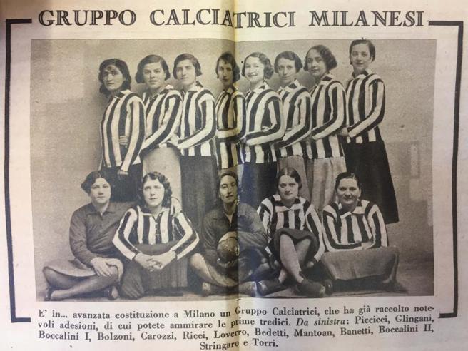 Il Comune di Milano dice sì a una via dedicata alle Giovinette, le calciatrici che sfidarono il Duce