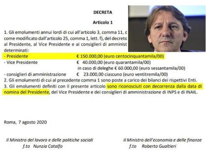 Tridico, stipendio raddoppiato per il presidente Inps (con effetto retroattivo)