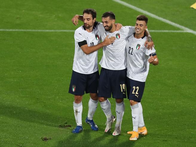 Italia-Moldova 6-0, primi gol per Cristante, Caputo e Berardi: riserve azzurre a gonfie vele