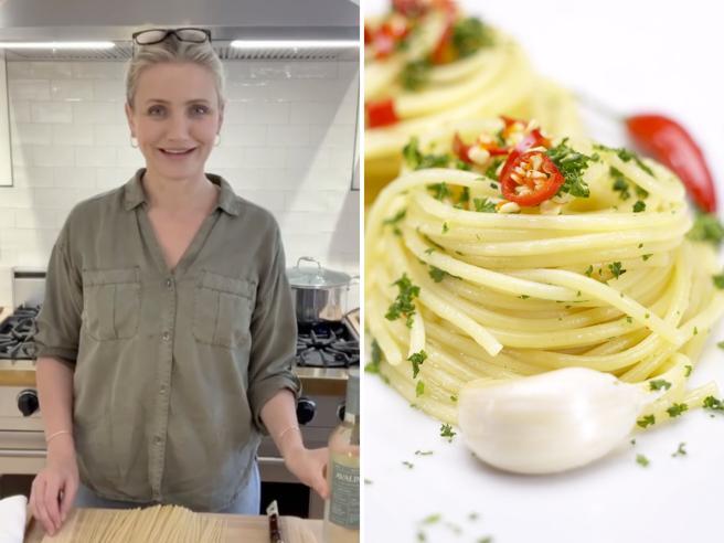 Cameron Diaz, la ricetta degli spaghetti all'aglio e i vini biologici:  «La mia nuova vita»