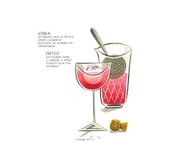 Russian Spring Punch, la versione rivisitata del bartender Andrea Attanasio