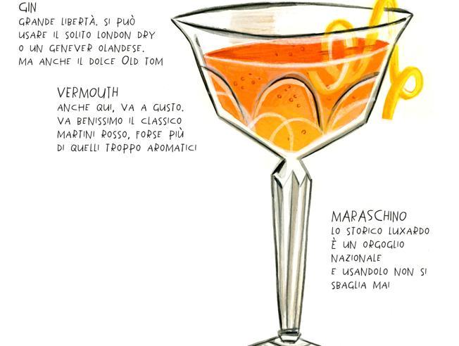 Martinez, il drink padre del Martini dry con l'aggiunta di maraschino