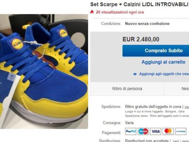 Scarpe e ciabatte Lidl: esaurite in poche ore, rivendute su eBay fino a 2.500 euro